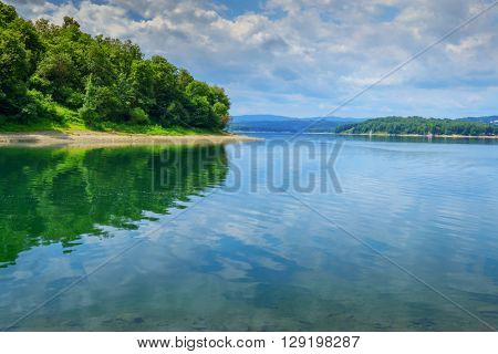 Poland lake Solina in summer time