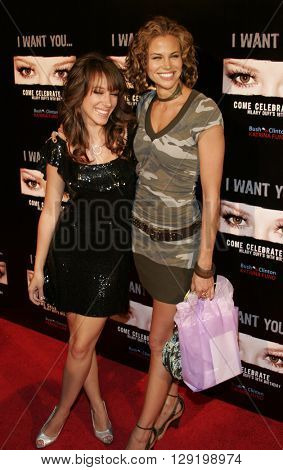 Haylie Duff and Brooke Burns at Hilary Duff's 18th Birthday Party at the Club Mood in Hollywood, USA on September 28, 2005.