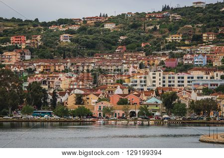 Picturesque View Of City Of Argostoli On Lakeside