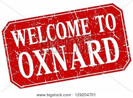 welcome to Oxnard red square grunge stamp
