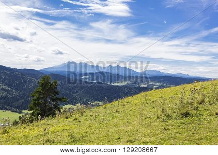 Panorama of the Tatra Mountains as seen from Slovakia