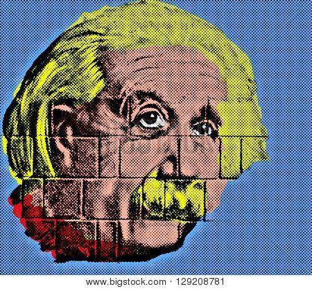 Albert Einstein (1879-1955) Endy Warhol-style pop art style