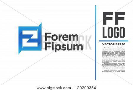 ff sign f Logo vector logotype illustration