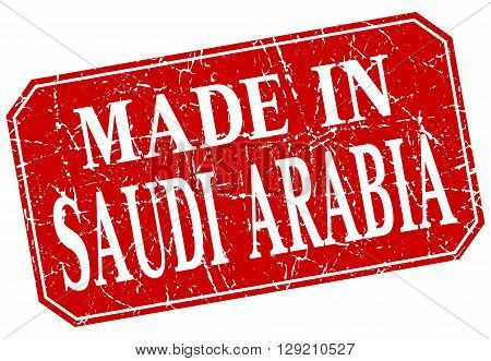 made in Saudi Arabia red square grunge stamp