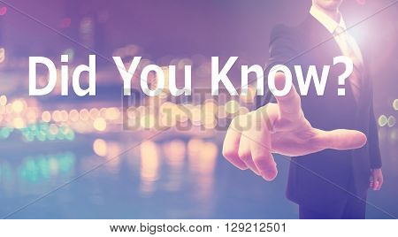 Did You Know Concept With Businessman