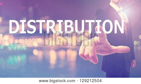 Distribution Concept With Businessman