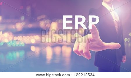 Erp Concept With Businessman
