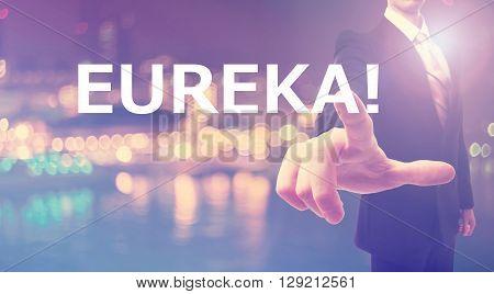 Eureka Concept With Businessman