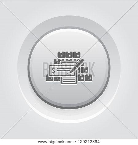 Wholesale Icon. Business Concept. Grey Button Design