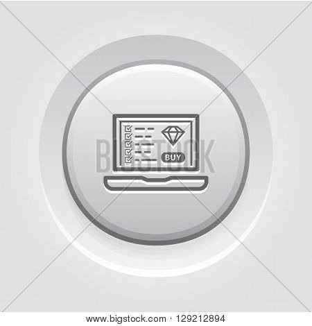 Landing Page Icon. Business Concept. Grey Button Design