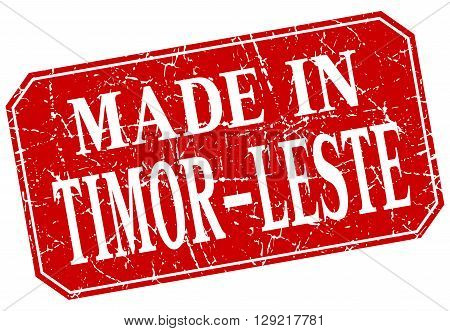 made in Timor-Leste red square grunge stamp