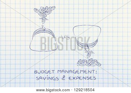 Coins Dropped In And Out Of Purses,budget Management