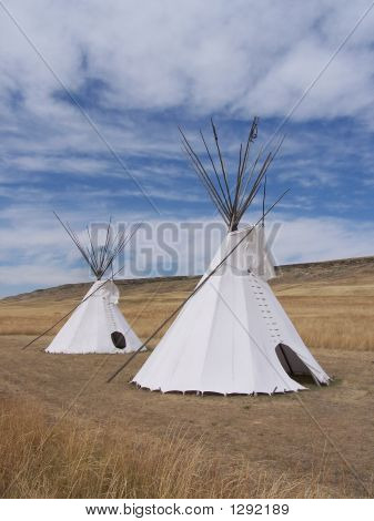 Tepees On The Prairie