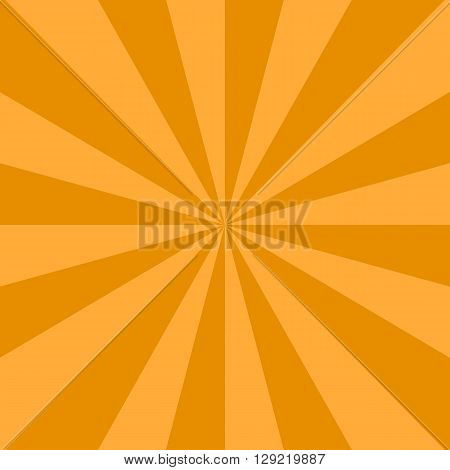Radial background with radiating rays of orange. Background in warm colors with orange brown sun shade.