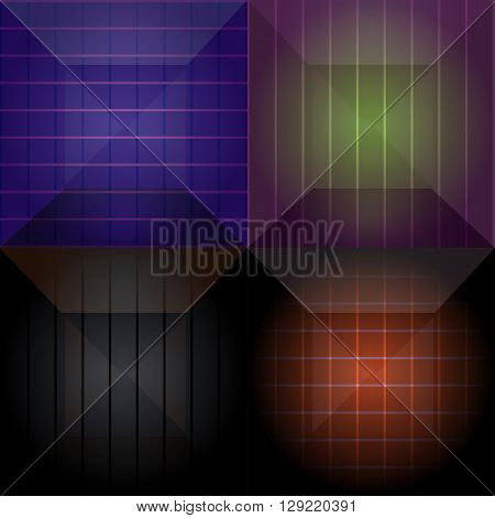 set of seamless geometric pattern dimed vector illustration