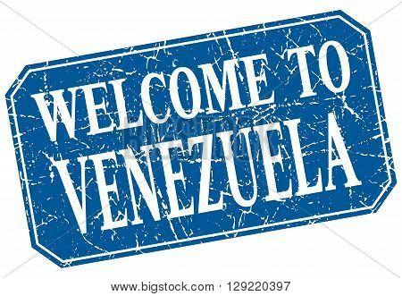 welcome to Venezuela blue square grunge stamp
