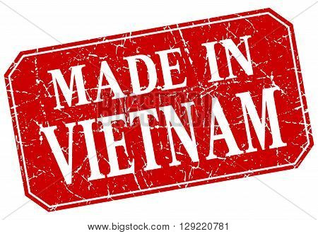 made in Vietnam red square grunge stamp