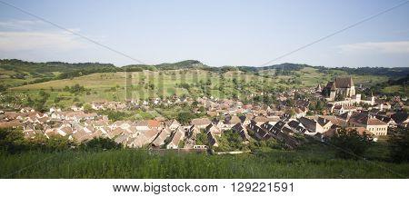 Medieval mountain village, Biertan in Transylvania, Romania