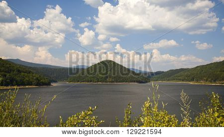 Lake in Transylvanian mountains