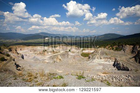 Stone quarry in Transylvania