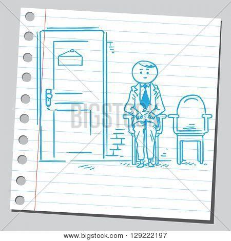 Businessman waiting for job interview