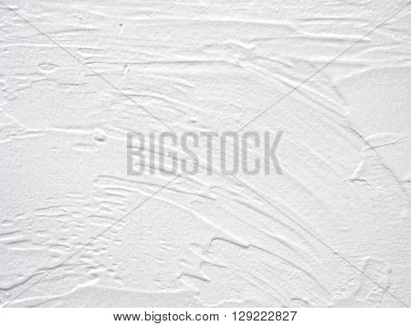 White mortar wall texture. Hand applied mortar wall.