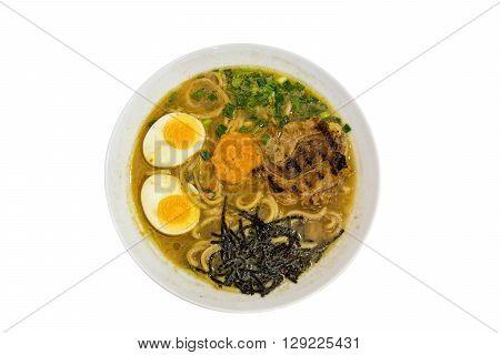 ramen broth kind of japanese noodle soup