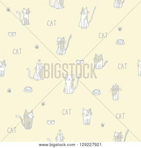 Cats - Seamless pattern