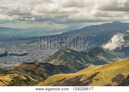 Mountains Landscape Quito Ecuador