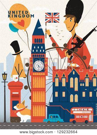 United Kingdom Travel Poster