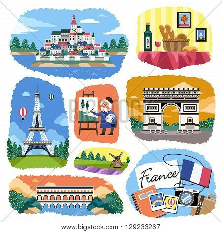 lovely France impression with famous attractions and specialties