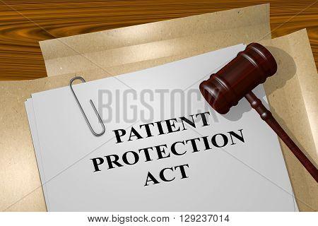 Patient Protection Act Legal Concept