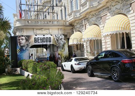 CANNES, FRANCE - MAY 10: A general view of Hotel CARLTON CANNES during the 66th Annual Cannes Film Festival on May 10, 2016 in Cannes, France.