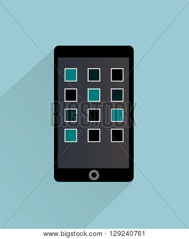 Smart phone design flat icon isolated. Telephone mobile and smartphone isolated, mobile phone, cell touch screen phone. Vector illustration