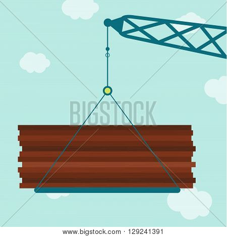 Crane With Plywood Wood