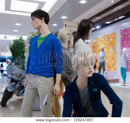 VORONEZH, Russia - June 05 2013, Mannequins in a shopping center