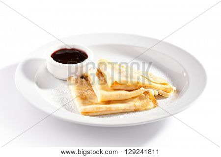 Dessert - Pancakes with Berries Sauce