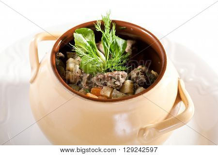 Veal Pot with Potato and Vegetables