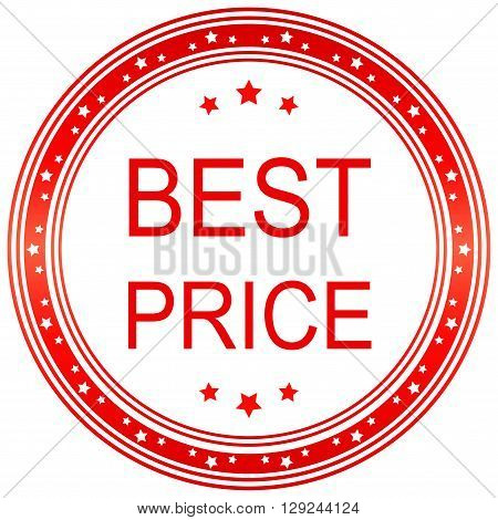 Best price. Best price seal. Best price sticker. Vector image.