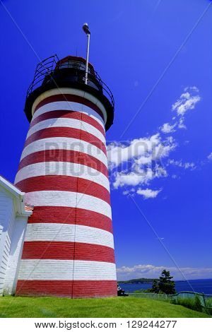 West Quoddy Head Lighthouse - Eastern most point in United States