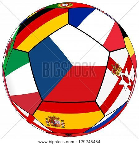 Ball With Flag Of Czech In The Center