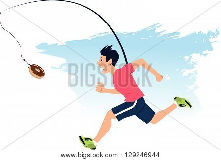Finding motivation to work out, EPS8 vector illustration