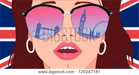 Visit London, Learn English, EPS8 vector illustration
