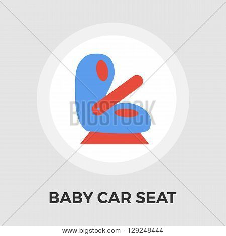 Child Car Seat Icon Vector. Flat icon isolated on the white background. Editable EPS file. Vector illustration.