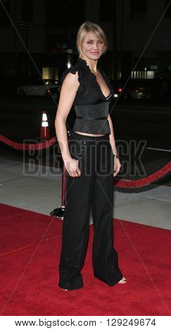 Cameron Diaz at the Los Angeles premiere of