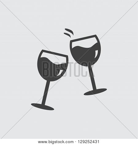 Glasses clink icon illustration isolated vector sign symbol