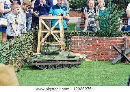 The Game Models Of Tanks On The Remote Control
