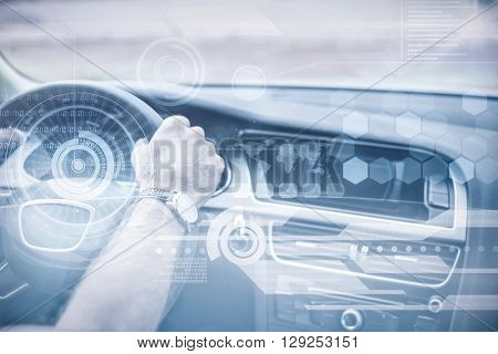 Technology interface against man driving with satellite navigation system