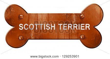 Scottish terrier, 3D rendering, rough brown dog bone
