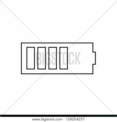 an images of battery icon Illustration design